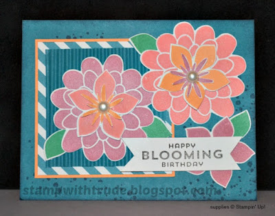 Flower Patch, birthday card, Stampin' Up!, Stamp with Trude