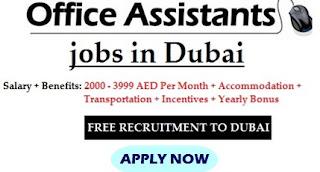 Office Assistant Recruitment in Dubai