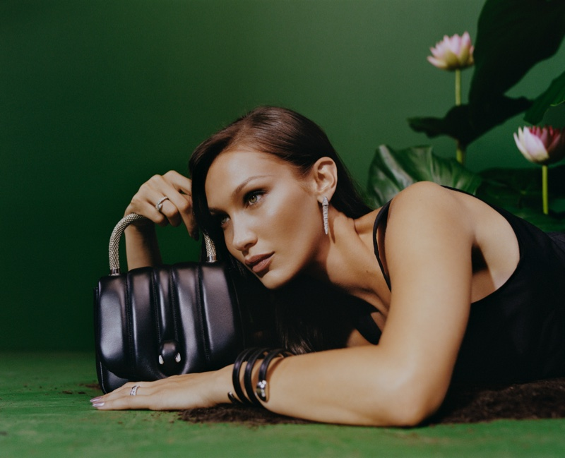 Model Bella Hadid fronts Bulgari x Ambush collaboration campaign