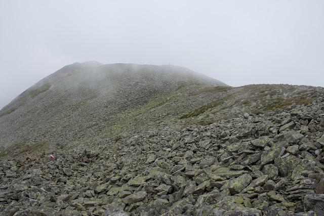 Wanderung vom Ingeringgraben über den Schmähhausrücken auf den Hochreichart. - Abstieg im Nebel