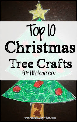 top 10 christmas tree crafts for little learners www.rainbowlilydesigns.com