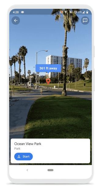 Live View Screenshot auf einem Smartphone