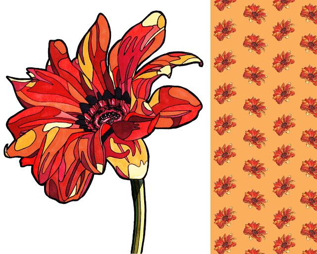 red-flower-pattern