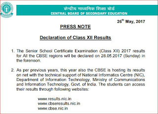 Central Board of Secondary Education-cbse 12th result 2017