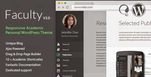 Faculty - Responsive Academic WordPress Theme - Free Premium ... on
