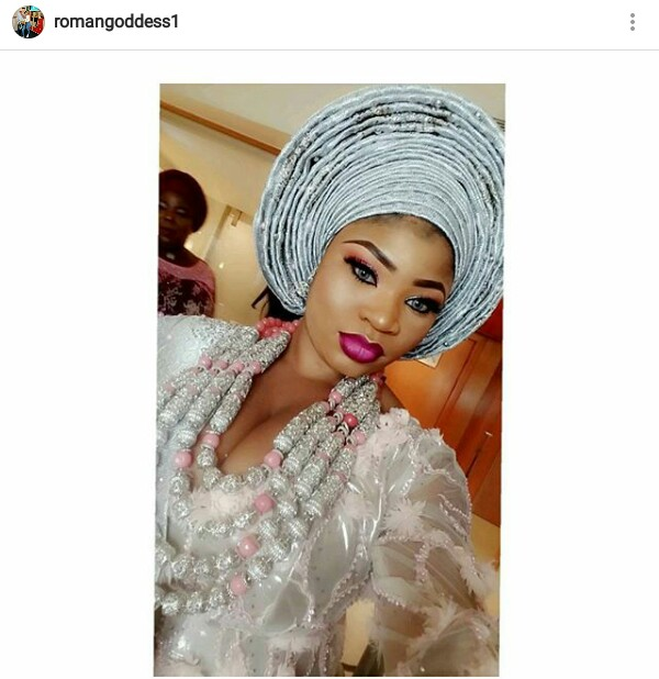 Popular Nigerian Instagram celeb, Roman Goddess ties the knot with her white lover