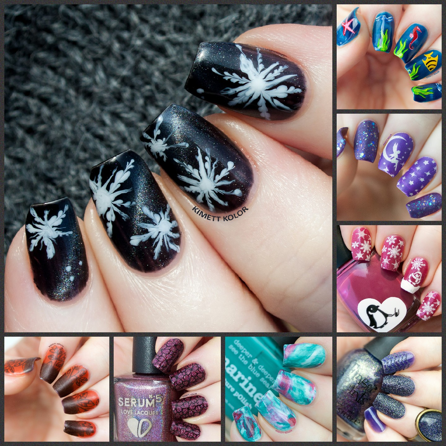 Kimett Kolor Nail Art Collage