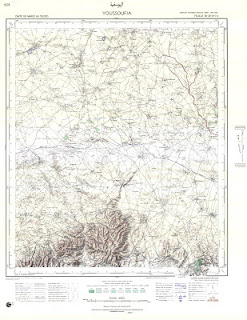Youssefia Morocco 50000 (50k) Topographic map free download