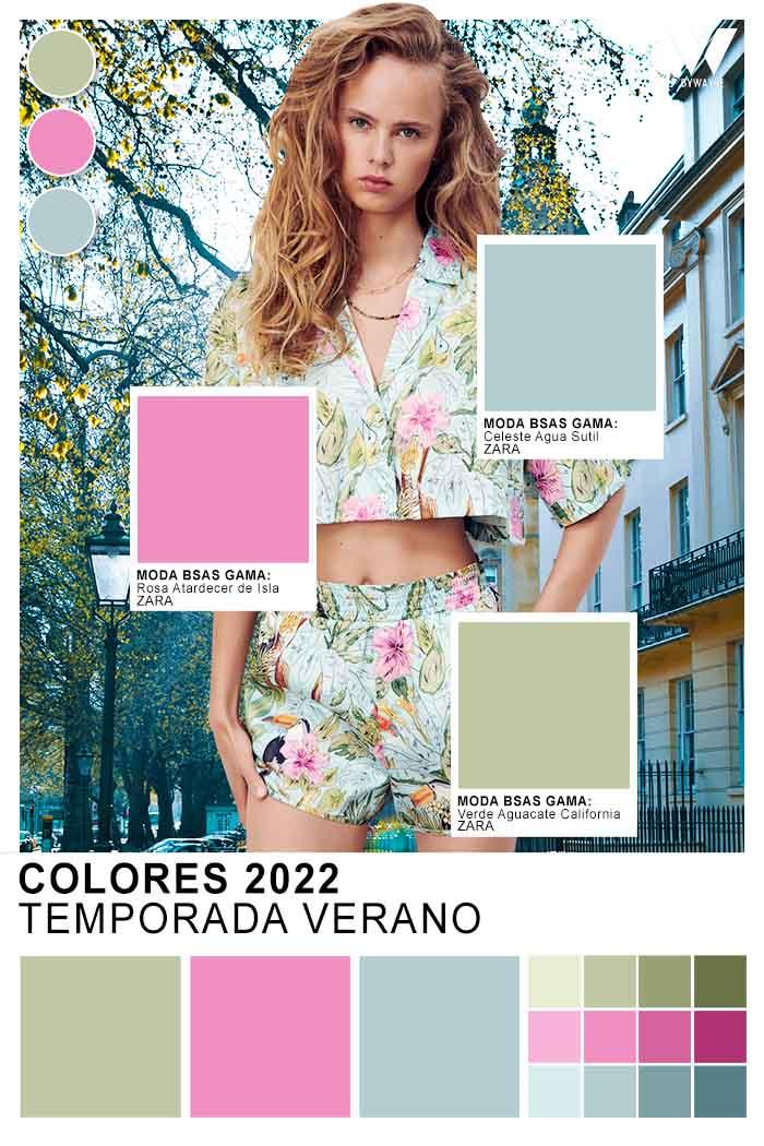 paleta de colores de moda para ropa de mujer verano 2022