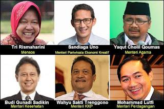 SAH! Jokowi Umumkan 6 Menteri Baru Reshuffle Kabinet