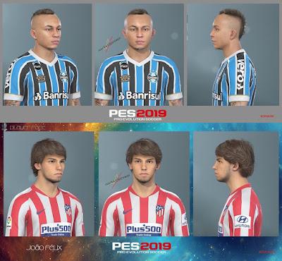PES 2019 Facepack Everton Soares & Joao Felix by HUY BUI