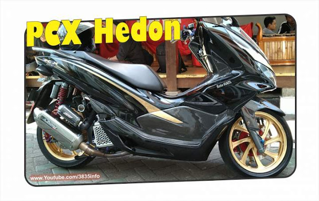 All New PCX150 Modif Warna Hitam Hologram Hedon
