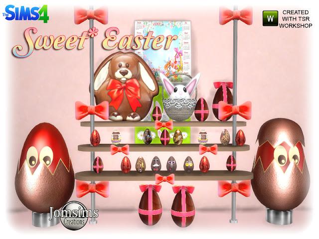 Пасха в Sims 4 - праздничный декор для дома со ссылками для скачивания