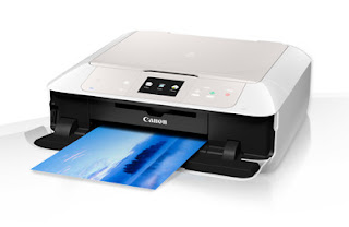 The PIXMA MG7550 is Canon's brand-new top-of-the-range all-in-one. Developed for the residence as well as picture consumer, it offers five-colour, paired print on paper or CD/DVD spaces and also can be cabled to a desktop computer or connected to a selection of mobile phones.