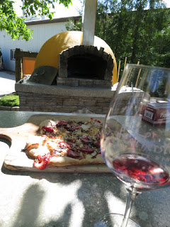 Wood-Fired Strawberry Pizza with Featherstone Rosé