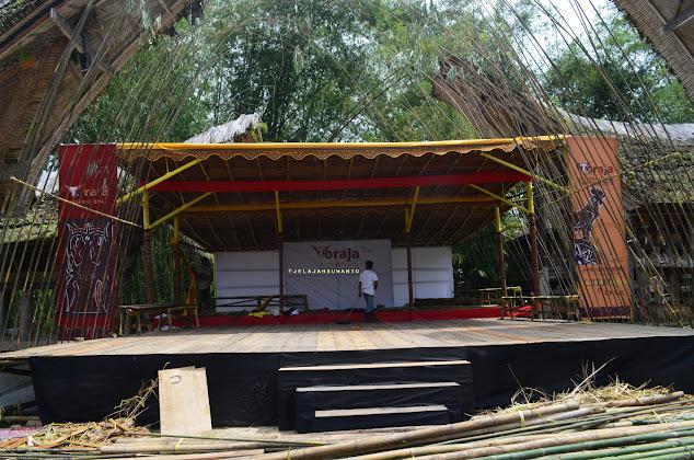 Persiapan Toraja International Festival  di kompleks Kete Kesu Tana Toraja || JelajahSuwanto