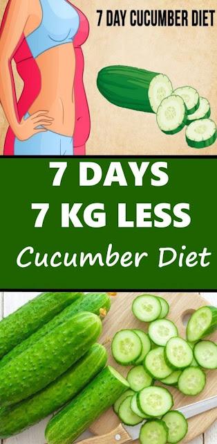 Cucumber Diet 7 days. 7 kg Less Unbelievable!!!