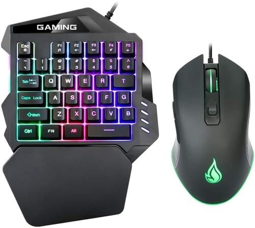 Review ZJFKSDYX Rainbow Backlit One Hand Gaming Keyboard