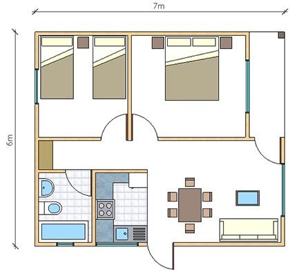Casas prefabricadas paine en chile casas prefabricadas for Casa de 40 metros cuadrados