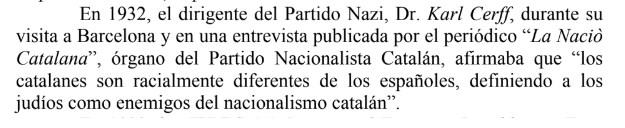 Karl Cerff, Catalunya, Nazi, catanazis