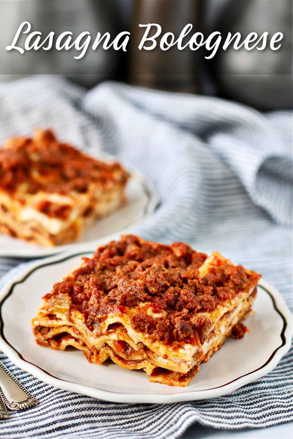 Lasagna Bolognese slices