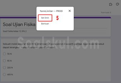 langkah 5b setting timer gform