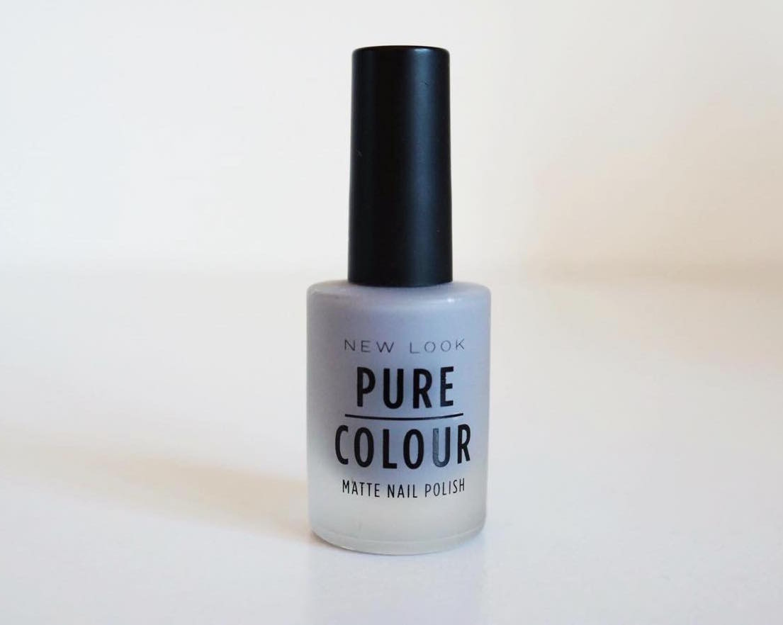 Newlook Pure colour grey matte nail varnish