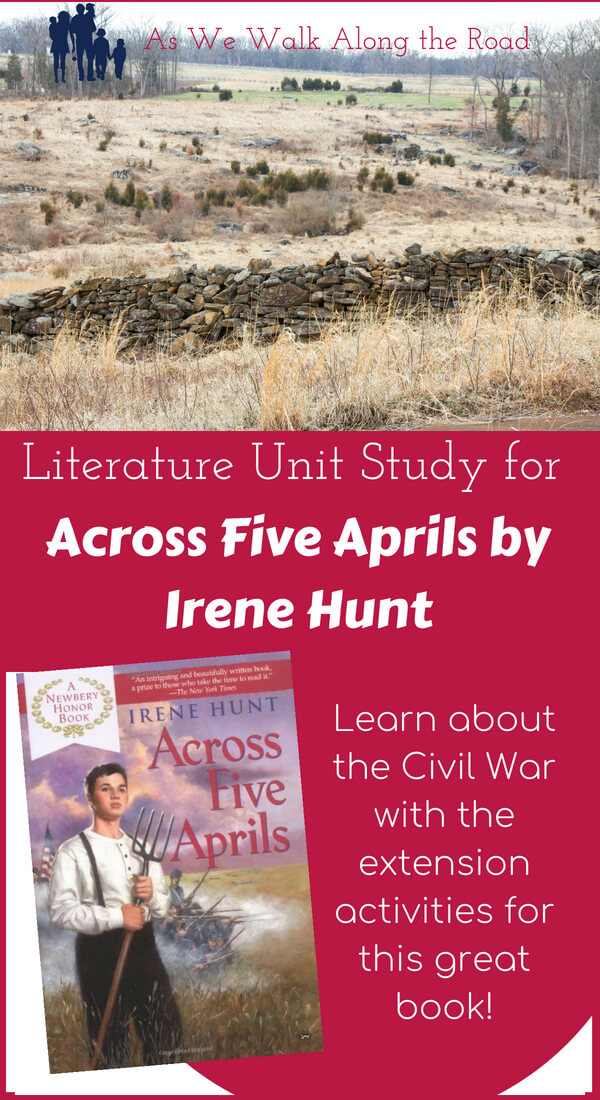 Literature unit study for Across Five Aprils
