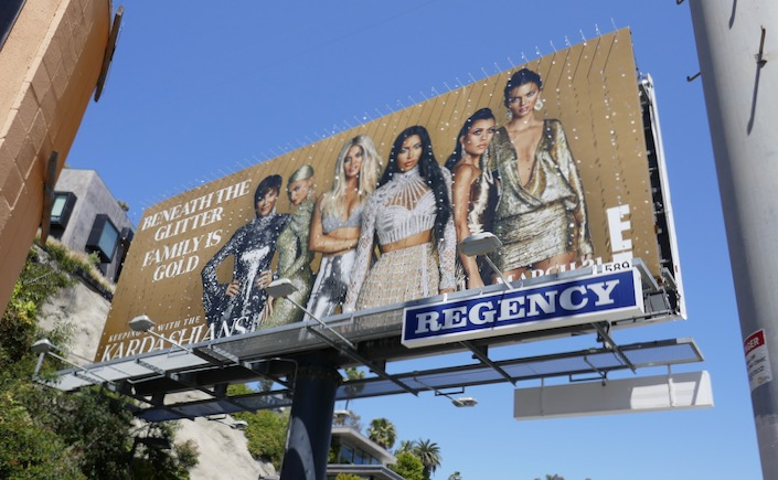 Keeping Up Kardashians season 16 glittering billboard