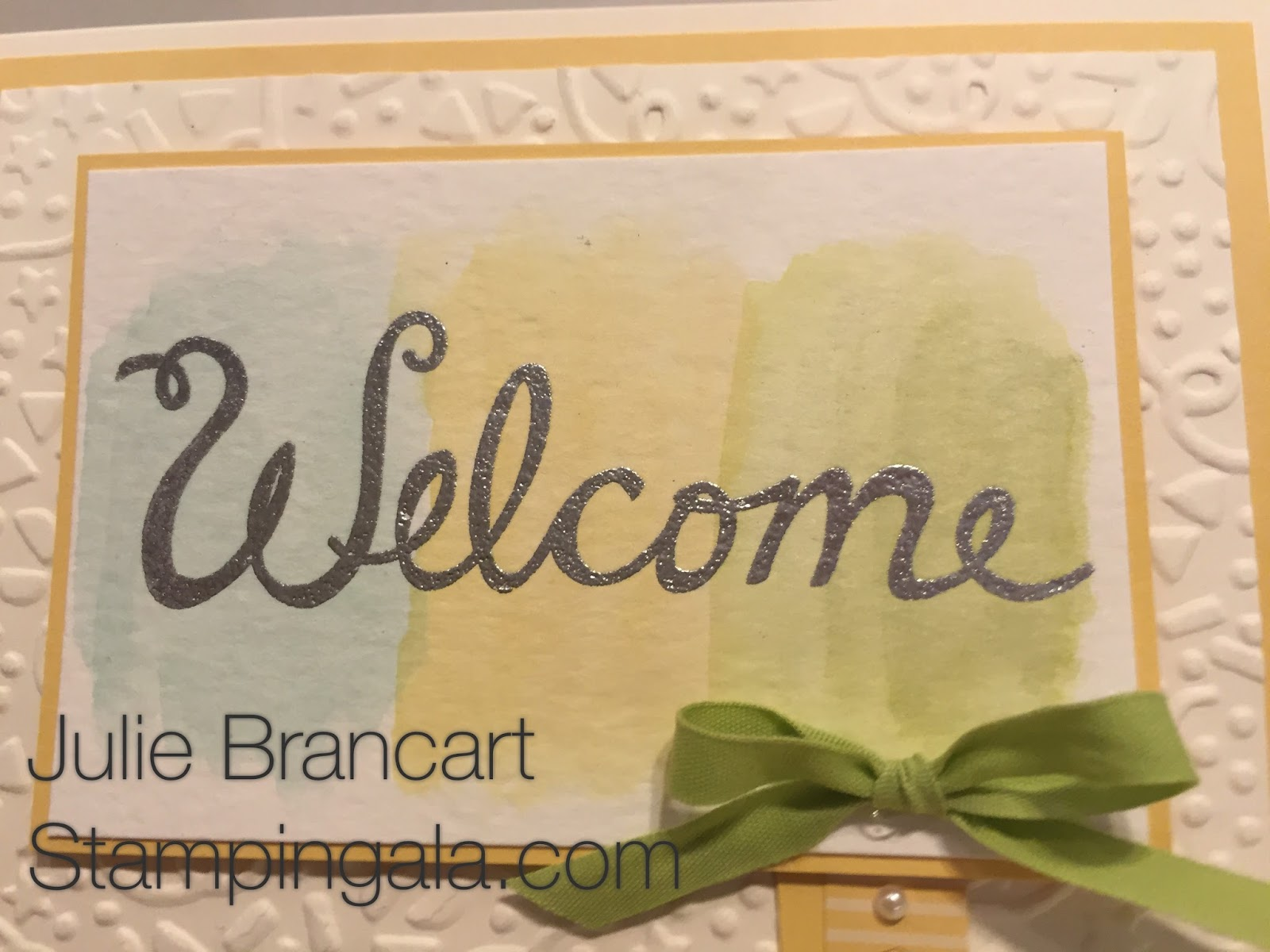 Stampin Gala Welcome Words For Baby Easel Card