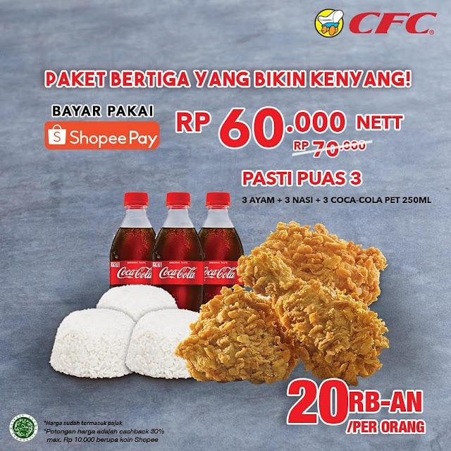 CFC Promo Pasti Puas & Kenyang Bayar Pakai ShopeePay