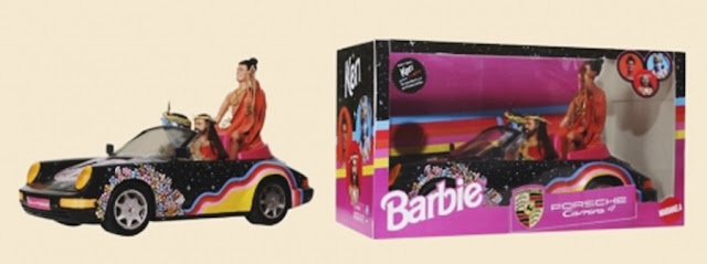 bonecas barbie modificadas, bonecas personalizadas, bonecas barbie religiosas, barbie baphomet, porsche barbie 911