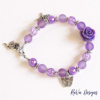 handmade bracelets idea purple roses panda hall beads