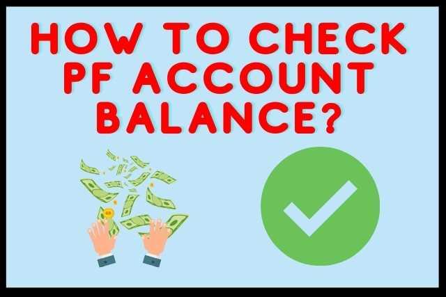 How To Check PF Account Balance