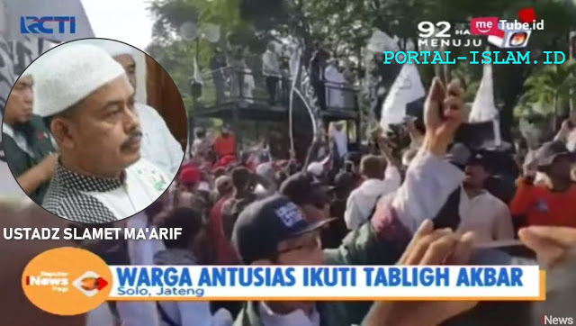 Ustadz Slamet Maarif Ketua PA 212 Sudah Jadi Tersangka Kasus Tabligh Akbar 212 Solo, Dijadwalkan Diperiksa Rabu