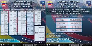 El SAIME realizará una Jornada Especial de Cedulación Pre-Electoral por número de cédula