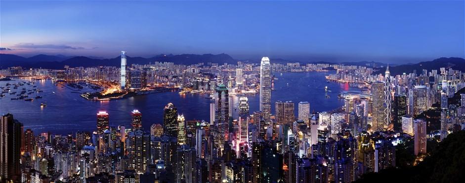 Hong Kong Skyine by Night