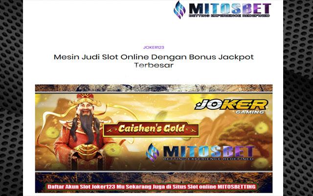 Joker123 Game Slot Online