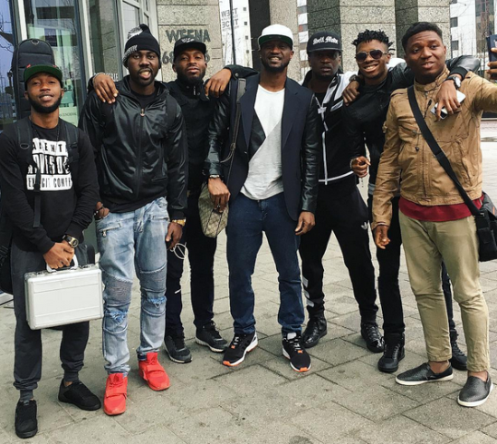 P-Square land in Amsterdam with their crew for a concert (photos)