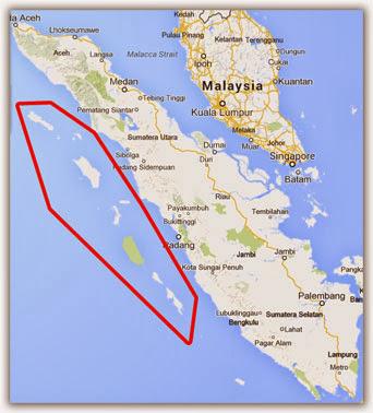 Penduduk di pulau barat Sumatera