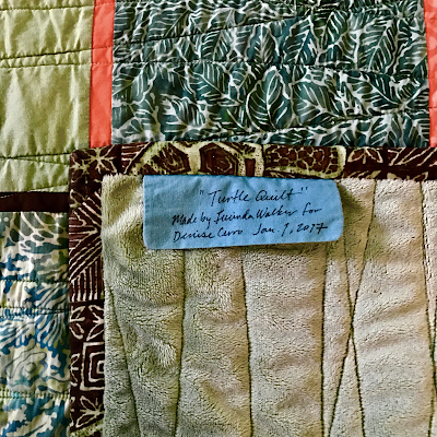 "Handmade label from ""Turtle Quilt"" by  Lucinda Walker"