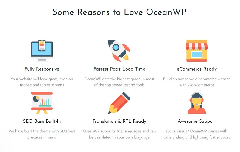 OceanWP theme for affiliate marketing