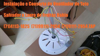 Instalação ventilador de teto salvador-ba