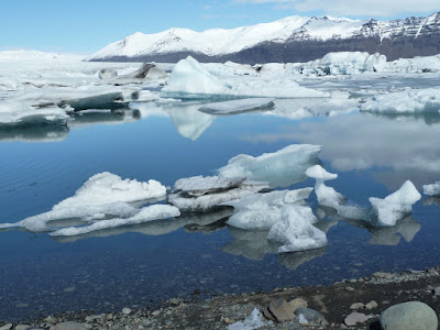 Ice in the Jökulsárlón glacier lagoon in Iceland.  Photo by Michael Ridpath, author of the Magnus series of crime novels
