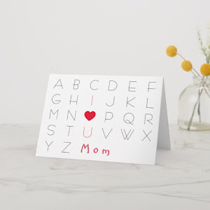 I Love You ABCD | Cute Mothers Day Birthday Card