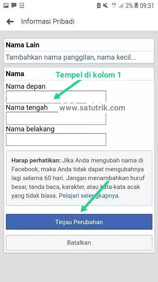 Cara Membuat Nama FB Kosong Tanpa Nama dengan Font Blank 2020