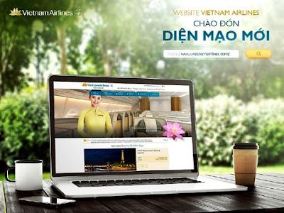 Vietnam Airlines chính thức sử dụng giao diện trang website mới