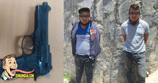 Dos motorizados capturados con un arma falsa en Los Palos Grandes