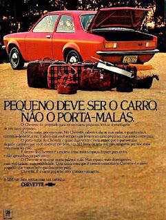 propaganda Chevette - 1973, Chevrolet década de 70, GM anos 70, 70's Brazil General Motors, Oswaldo Hernandez,