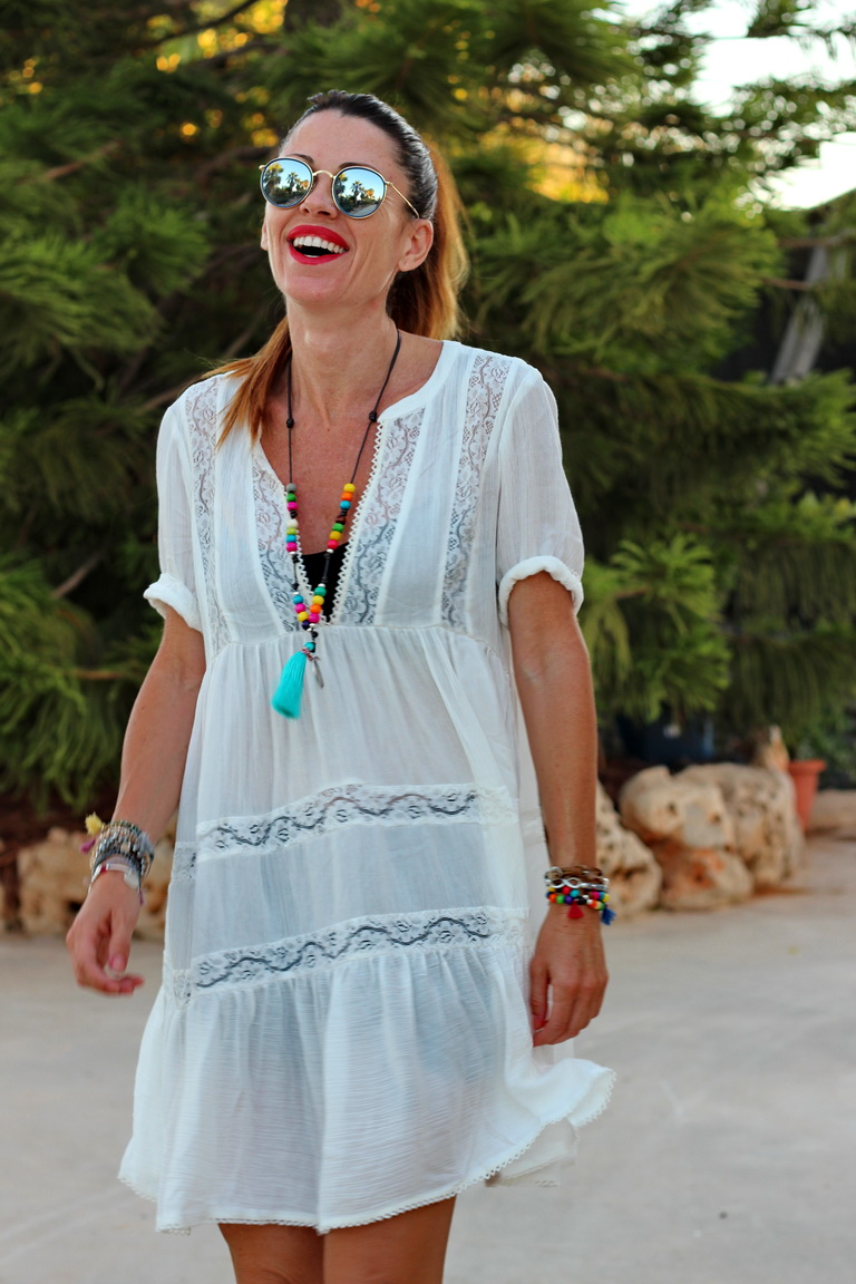 Sheinside; White Dress; Streetstyle; fashion blogger; bbeautifulbymaria; hippie; tendencias 2016